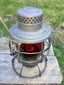 Antique 1903 ACL Atlantic Coast Line Railroad Lantern Keystone CASEY Ruby Dietz