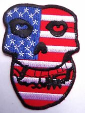 MISFITS patch badge punk rock skull crimson ghost american flag