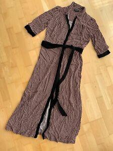 SELECTED FEMME Brown Checked Midi Shirt Dress EU 36 UK 8