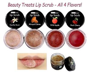 4 PCs Beauty Treats Lip Scrub - Lip Treatment , Vitamin E, Moisturize Lips!