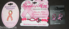 Pink Ribbon Breast Cancer Awareness Gift Set  Earrings Pin Bracelet
