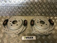 DRILLED & GROOVED REAR BRAKE DISCS & PADS VOLVO XC60 2.0 2.4 3.0 D D3 08-18
