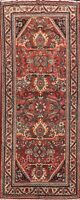 Antique Geometric Mahal Hand-knotted Runner Rug Hallway Oriental Carpet 4x10 ft