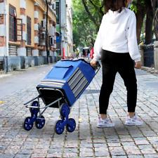 Folding Shopping Cart Stair Climber Cart Tri Wheels 200 Lbs Grocery Multi Use