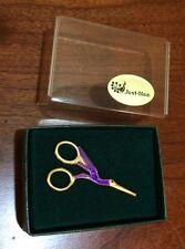 Just Nan Stork Scissors Lapel Pin/Purple/NIB