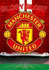 Manchester United 3D POSTER CREST ROSSO GRANDE 48 CM X 67cm STADIUM stadio di Old Trafford