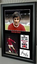 """George Best """"The Belfast Boy"""" Framed Canvas Tribute Signed Great Souvenir"""