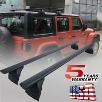 DOT Top Roof Rail Rack Cross Bars Bike Carrier for JEEP Wrangler JK JL 2007-2019
