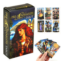 78 Pré-Raphaélite 19th siècle tarot oracle Cards Deck Set Kit Guidebook
