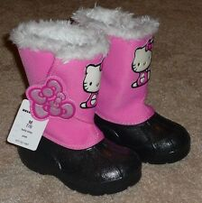 HELLO KITTY PINK RAIN BOOTS GIRLS TODDLER SIZE 7-8 - BRAND NEW W/ TAG!