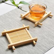 5pcs Solid Wood Tea Tray Drainage Cup Teapot Mats Gongfu Tea Table Serving