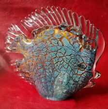 Spectacular Murano Art Glass Hand Made Tropical Discus Fish Paperweight