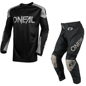 Oneal Matrix Motocross Suit 2021 Schwarz MX Gelände Track O Neal Jersey Hose