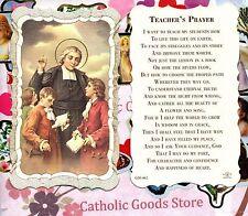 Saint St. John Baptist de La Salle - Scalloped trim - Paperstock Holy Card