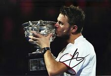 Stan Wawrinka Signed 12X8 Photo 2014 Australian Open Champion AFTAL COA (E)
