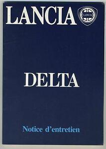 (39B) LANCIA DELTA  Notice d'entretien 1982