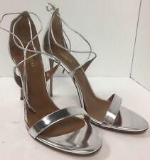 Aquazzura Shoe Silver Pump Size 40 1/2 New Strappy