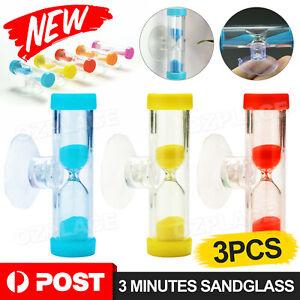 New 3pcs Sandglass Hourglass Mini 3 Minutes Sandglass Hourglass Sand Clock Timer