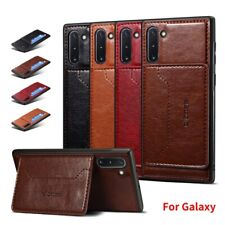 For Samsung Galaxy Note 10 Plus Luxury Card Pocket Leather Case Magnetic Cover