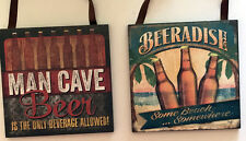 Beer Christmas Ornament Vintage Home Decor or Fun Gift or use in Crafts set of 2