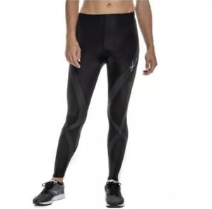 CW-X Womens Black Stabilyx Insulator Joint Support Compression Tight Leggings S