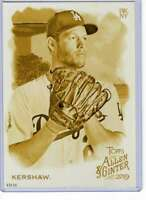 Clayton Kershaw 2019 Allen and Ginter 5x7 Gold #126 /10 Dodgers