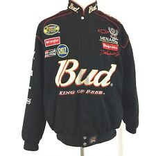 VTG Budweiser Dale Earnhardt Jr Chase Authentics Nascar Bomber Jacket XL  #8