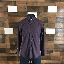 Men's Mizzen+Main Dotted Long Sleeve Buttoned Performance Medium Trim Fit Shirt