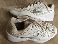 Nike 705260-102 Zoom Cage 2 White Lace-Up Dragon Tennis Shoes Women's Size 10.5