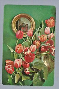 Geniune Swap Vintage Playing Card  Flowers
