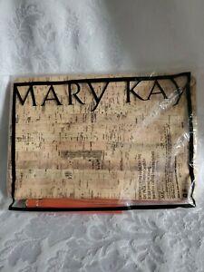 MARY KAY Bag /COSMETIC Makeup Soft Case, Pouch. Tassel Top Zip Unisex *NIB* Cork