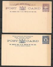 New South Wales covers 1+1 1/2P PCs ovpt SPECIMEN not sent F/VF