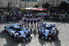 6 Toyota Drivers SIGNED 12x8 Toyota TS040 Hybrid, Le Mans Line-up 2014