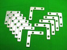 Corner plate flat corner brace fixing L bracket, 63x63mm, pack of 12 zinc plated