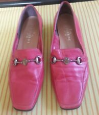 Trussardi Made In Japan Genuine Leather Coral Red Shoes Size 6