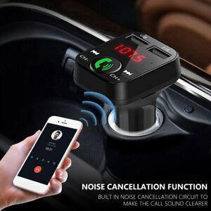 Car FM Transmitter Wireless Bluetooth 2 USB Charger MP3 Player Handsfree Kit UK