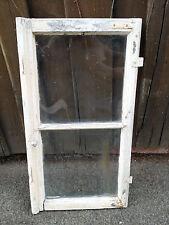 altes Fenster Fensterflügel Holzfenster Seitenflügel mit Glas Deko shabby chic 3