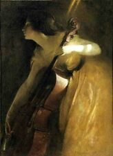 Custom John White Alexander Oil Painting repro A Ray of Sunlight aka The Cellist