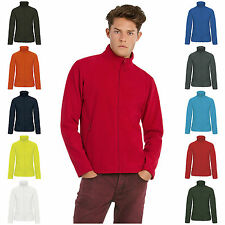 Mens Full Zip Micro Fleece Fashion Fit Jacket XS – 4XL 10 Colours Free PnP