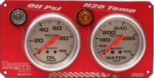 Tanner Racing Autometer 2-Gauge Panel (Oil PSI, H2O)
