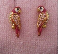 Auth Juicy Couture Cute Love Bird Parrot Studs Stud Earrings