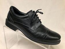 Ecco Men's Black Leather Cap Toe Shoe 8.5 Eur 42