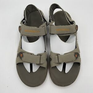 Merrell Bungee Cord Marmalade Sandals Leather Strappy Mens Size 10