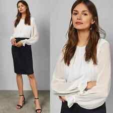 Ted Baker London Lizzata Long Sleeve White Nacy Pencil Skirt Midi Dress Size 3