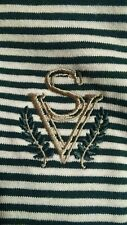 Slazenger Golf Polo style Shirt -Sage Valley - Green / White Stripe Mens Large