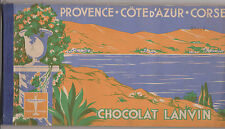 ALBUM ANCIEN D'IMAGE CHOCOLAT LANVIN-PROVENCE-COTE D'AZUR-CORSE-COMPLET/1939