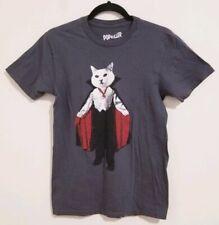 Popkiller Los Angeles 100% Cotton Small Vampire Cat Short Sleeve T-Shirt