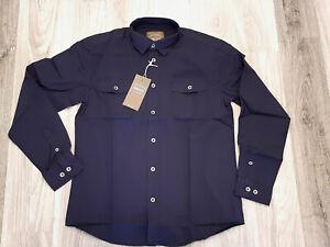 Man's World Herren Freizeit Hemd Langarm Gr S dunkel blau  723686