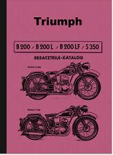 Triumph B 200 L LF S 350 Ersatzteilliste Ersatzteilkatalog Teilektalog B200 S350