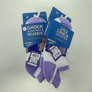 Women's Brooks Girl Power Athletic Socks- US Unisex Size M, Assorted Colors- 4pk